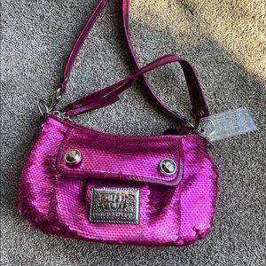 Coach Poppy Metallic Rare Hot Pink Sequin Purse